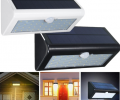 PIR Motion Sensor Light Black - White Solar Power LED Floodlight