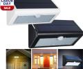 Solar Power PIR Motion Sensor 38-LED Wall light