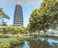The landscape lighting improvement project of Hongmei Park and Cultural Palace was completed