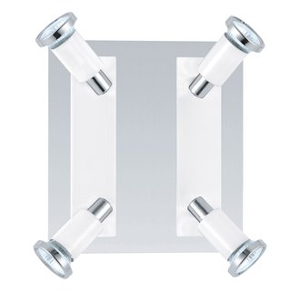 Eglo 20932A Eridan 4x50W Track Light in Chrome and Shiny White Finish
