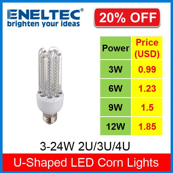 New U-Shaped E27 B22 indoor EPISTAR Energy Saving LED Corn Light