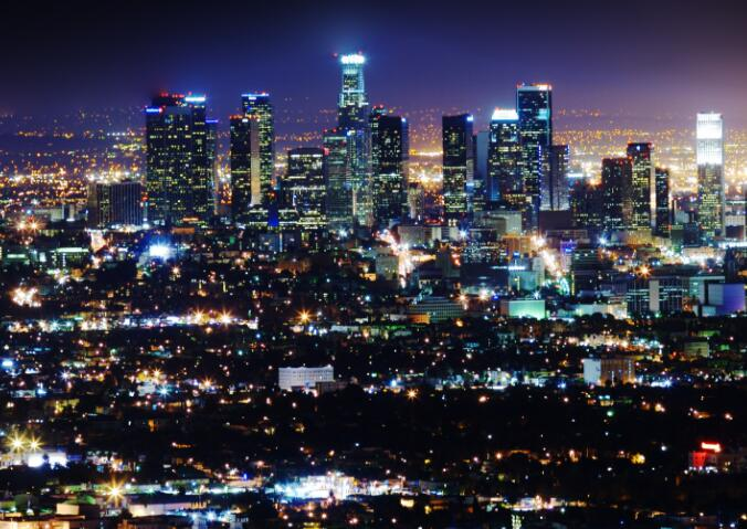 Los Angeles deployed road intelligent lighting system