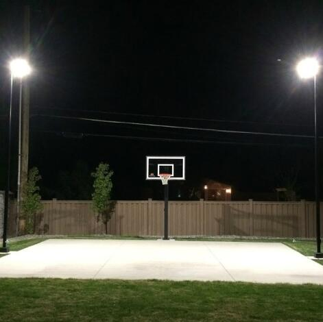 Does The Outdoor Basketball Court Lighting Choose Halogen Or Led Floodlights