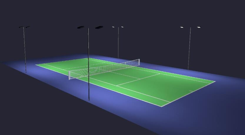 What are the factors to consider when choosing tennis court lighting?