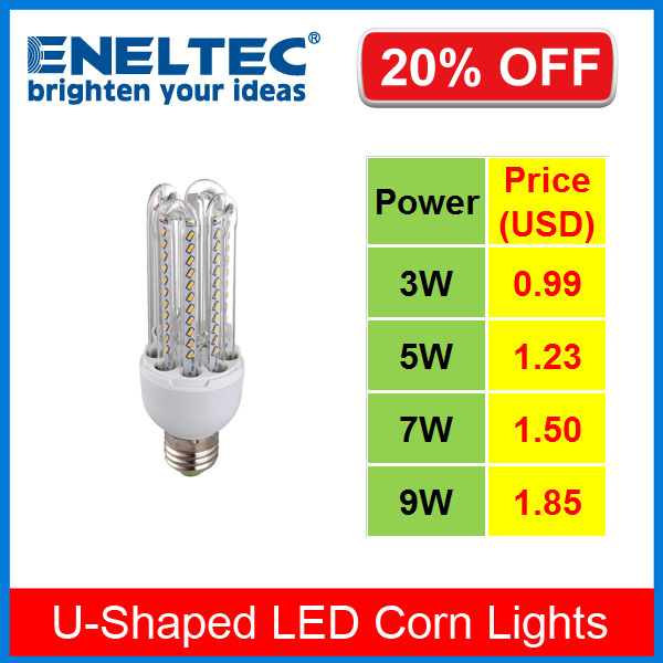 U-Shaped LED Corn Light, LED Energy Saving Lamp