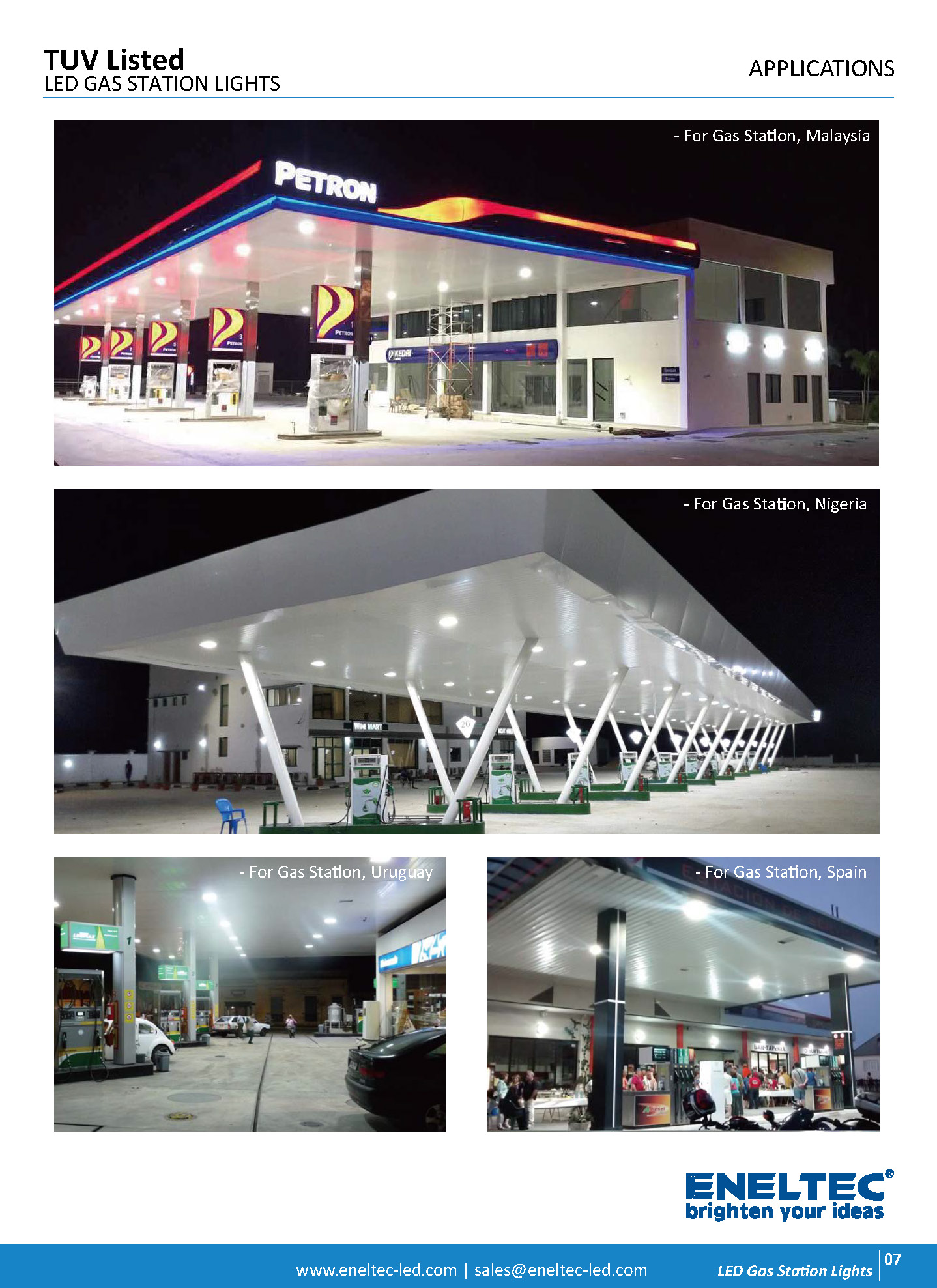 TUV Listed LED Gas Station Lights