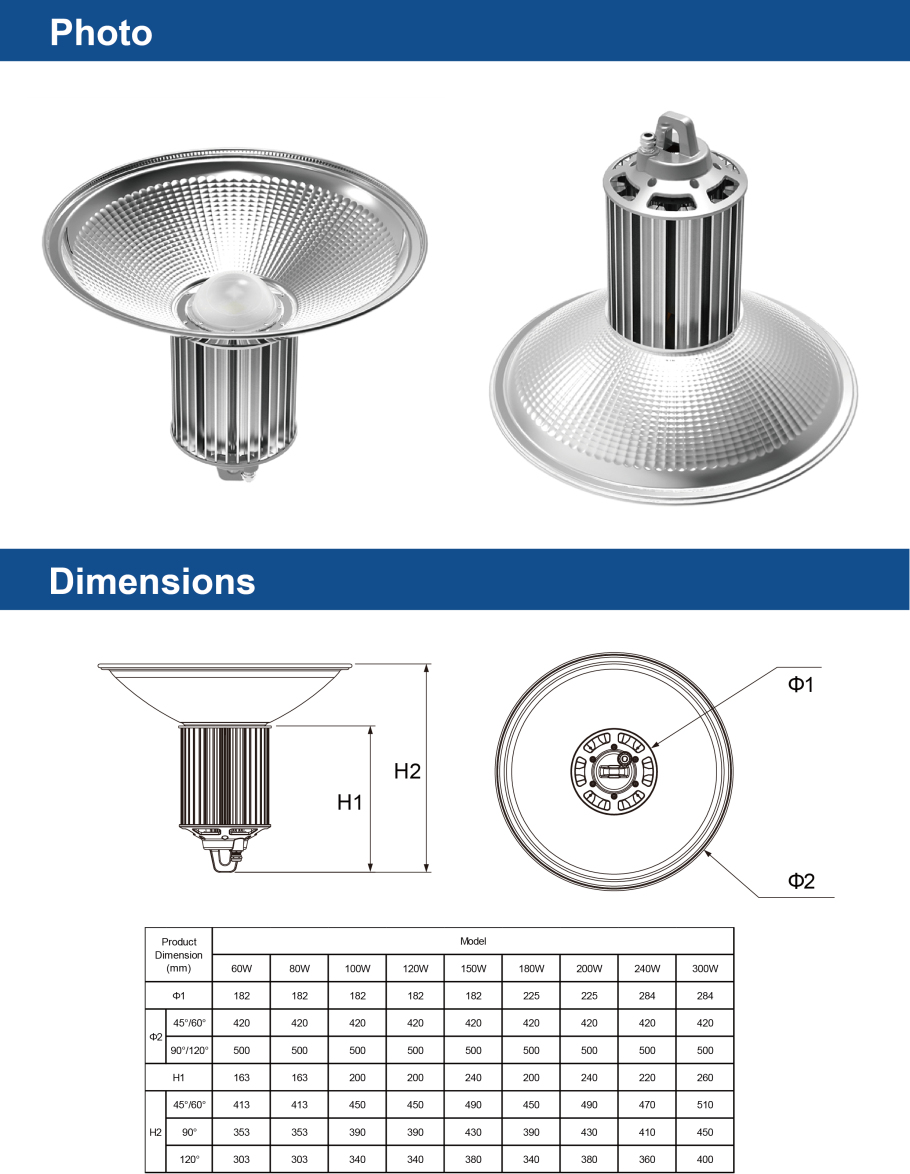 SMD LED High Bay Lights