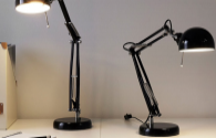 How can LED desk lamps be designed to make the lighting area more reasonable?