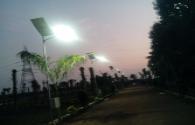 India Chennai large area installed LED street lights