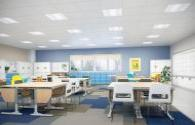 LED intelligent lighting system changes classroom lighting environment