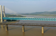 The Southwest River Pedestrian Bridge in Zhifu District, Yantai is ready to light up