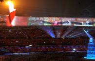The ice stadium of the Beijing Winter Olympics consists of 1088 sets of LED lamps