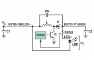 The multi-function LED driver under different LED string level input voltage