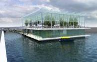 The world's first floating farm: LED light planting forage