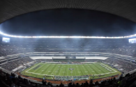 The world's first kilowatt-class high-power density LED stadium lights officially off the assembly line