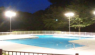 What should be considered when choose LED fixtures in swimming pool lighting?